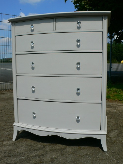 offizierskommode kommode um 1950 im shabby chic look ebay. Black Bedroom Furniture Sets. Home Design Ideas