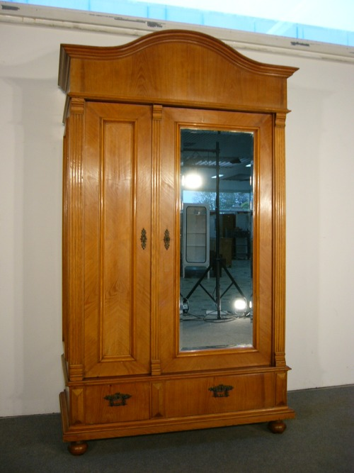 jugendstil schrank zerlegbar kleiderschrank esche schlo m bel antik um 1900 ebay. Black Bedroom Furniture Sets. Home Design Ideas