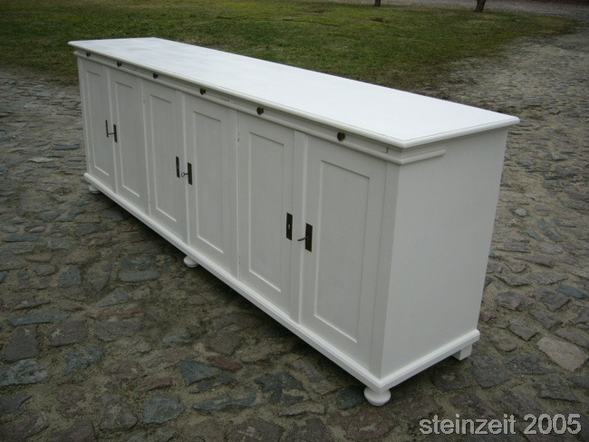 anrichte sideboard massiv im landhaus stil theke vintage ebay. Black Bedroom Furniture Sets. Home Design Ideas