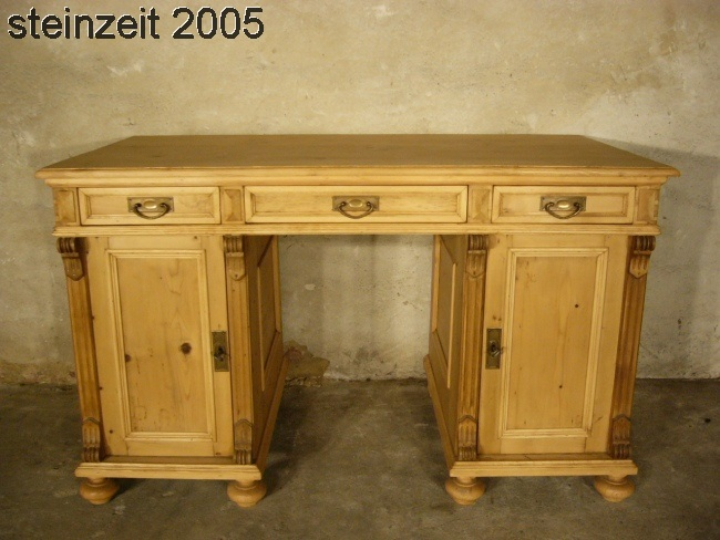 schreibtisch sekret r gr nderzeit weichholz antik um 1900. Black Bedroom Furniture Sets. Home Design Ideas