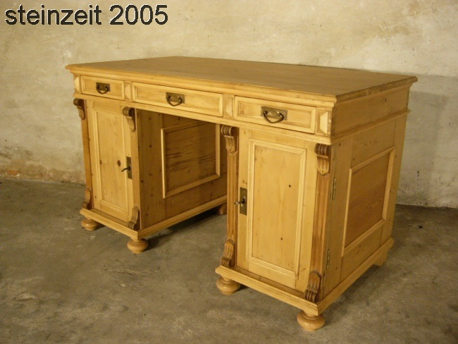 schreibtisch sekret r gr nderzeit weichholz antik um 1900 ebay. Black Bedroom Furniture Sets. Home Design Ideas